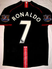 2007/2008 Nike Manchester United Cristiano Ronaldo Jersey Shirt Kit Away Black