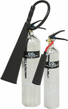 Carbon Dioxide CO2 Polished Chrome Silver Fire Extinguisher *FREE POSTAGE*