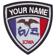 IOWA CUSTOM CREST FLAG NAME EMBROIDERED PATCH