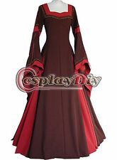 Red Medieval Renaissance Victorian Ball Gown Dress Costume For Party custom size