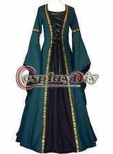 Dark Green Victorian Medieval Costume Dress Fancy Dress cosplay costume