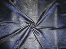 "Spun Silk Brocade Fabric Navy Blue & Black color 44"" BRO305[1]"