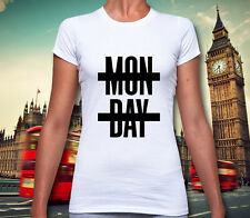 Mon Day Monday T Shirt Crossed Niall Horan Job Work Hate College University #137