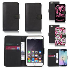 black pu leather wallet case cover for many mobiles design ref q474