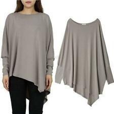 Fashion Women Casual Batwing Sleeve Irregular Loose Blouse Tops Shirts New