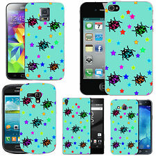 gel case cover for many mobiles - azure multi ladybird stars silicone