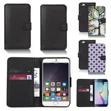 black pu leather wallet case cover for apple iphone models design ref q337