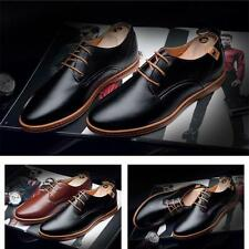 Fashion England Mens Dress Formal Lace Up Shoes Casual Oxfords Leather Shoes