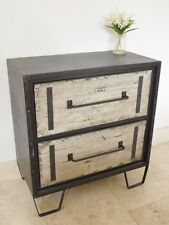 Industrial Furniture Vintage Chest Of Drawers Bedroom Storage Unit Cabinet 74cm