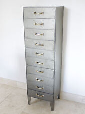 Industrial Furniture Vintage Chest Of Drawers Storage Unit Filing Cabinet 140cm