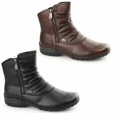 Rieker Z4663-01 TEX Ladies Womens Water Resistant Warm Lined Zip Up Winter Boots