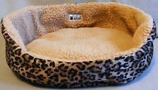 SMALL PET BED - Suitable for Cat or Small Dog - Leopard Print - thecatsmeow