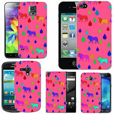 hard case cover for many mobiles -  blush multi lion raindrop