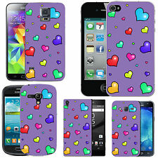 motif case cover for many Mobile phones - violet many lots hearts