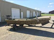14' Duck Boat, Mud Motor and Trailer