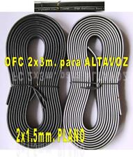 CABLE  ALTAVOZ PLANO OFC VIBE FLAT 2x1.5mm. (2x3m.)