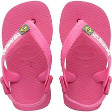 Havaianas Baby Brasil Logo Orchid Rose Rubber Flip Flops
