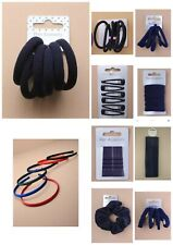 Girls Hair Accessories For School Navy Elastics Headbands Scrunchies Clips Etc