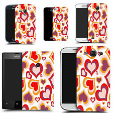 motif case cover for various Popular Mobile phones  - red multi heart