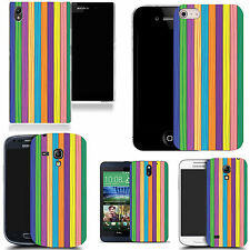 hard case cover for variety of mobiles - multi stripe