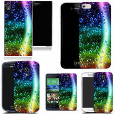 art case cover for various Mobile phones - rainbow bubbles silicone