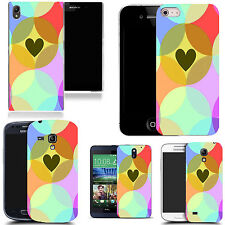 motif case cover for various Popular Mobile phones - heart circle