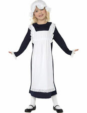 Child Poor Victorian Maid Girls Fancy Dress Kids Book Day Week Costume