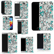 hard case cover for variety of mobiles - blue love