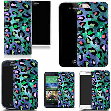 motif case cover for various Popular Mobile phones - cosmos leopard