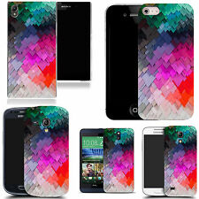 art case cover for various Mobile phones - colourful slate pattern silicone