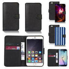 black pu leather wallet case cover for many mobiles design ref q316