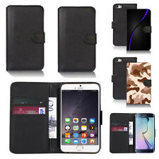 black pu leather wallet case cover for apple iphone models design ref q770