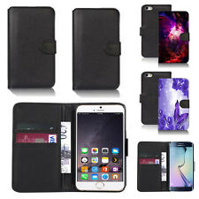 black pu leather wallet case cover for apple iphone models design ref q365