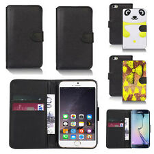black pu leather wallet case cover for apple iphone models design ref q541