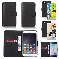 black pu leather wallet case cover for many mobiles design ref q492