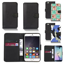 pu leather wallet case cover for apple iphone models design ref q64
