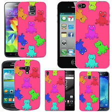 motif case cover for many Mobile phones -  blush colourful jumping frogs