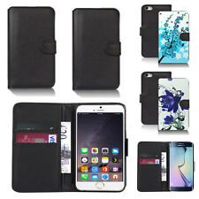 pu leather wallet case cover for apple iphone models design ref q30