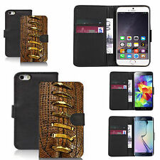 pu leather wallet case for many Mobile phones - traditional footy