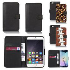 black pu leather wallet case cover for many mobiles design ref q765