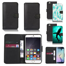 pu leather wallet case cover for apple iphone models design ref q127