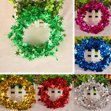 10pcs/Set Glitter Star Wire Tinsel Garland Christmas party Decoration Ornament