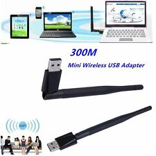 Mini 300M 802.11n/g/b USB Wireless LAN Adapter WiFi Network Card With Antenna D#