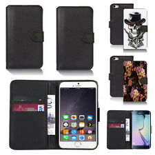 black pu leather wallet case cover for many mobiles design ref q790