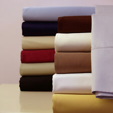California King size 300 Thread Count Solid Sheet 100% Combed Cotton Bed Sheet