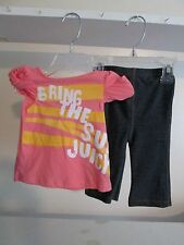 NWT GIRL SIZE 3/6M OR 12/18M JUICY COUTURE SUGAR DADDY 2PC LEGGING SET MSRP 58.