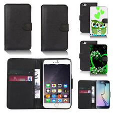 pu leather wallet case cover for apple iphone models design ref q164