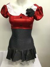 Dance Costume Many Child & Adult Sizes Group Jazz Tap Red Competition Pageant