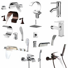 Contempoary Bathroom Vanity Sink Faucet Tap Bathtub Shower Faucet Set Widespread