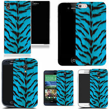gel case cover for many mobiles  - wild blue fur  silicone
